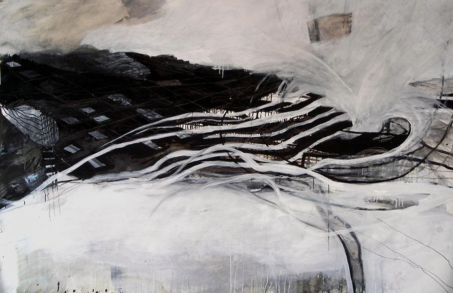 o.T. 2012, Mischtechnik auf Papier, 150 x 230cm
