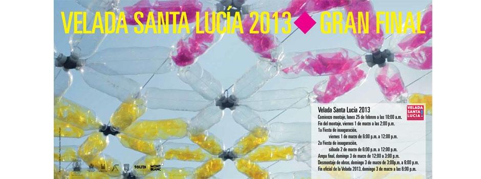 Einladungskarte zur Velada Santa Lucia 2013