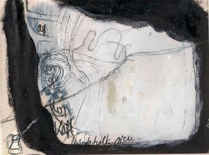 o.T. 2012, Mischtechnik auf Papier, 14,5 x 19 cm