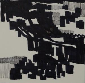 resolutions 2012, Japantusche auf Papier 30 x 30 cm