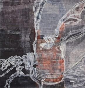 Flexural Consideration II, 2012 Kasein und Pastell 150 x 146 cm