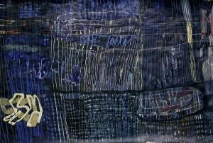 BlauEINS 2012 , Acryl und Ölpastell 150 x 220 cm