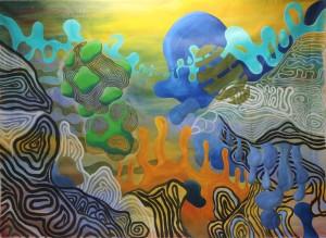 o.T. 2012, Mischtechnik auf Leinwand, 212 x 290 cm