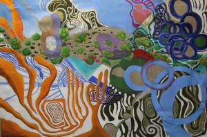 o.T. 2012, Mischtechnik auf Leinwand, 140 x 212 cm