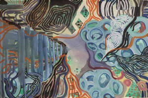 o.T. 2012, Mischtechnik auf Papier, 99 x 150 cm