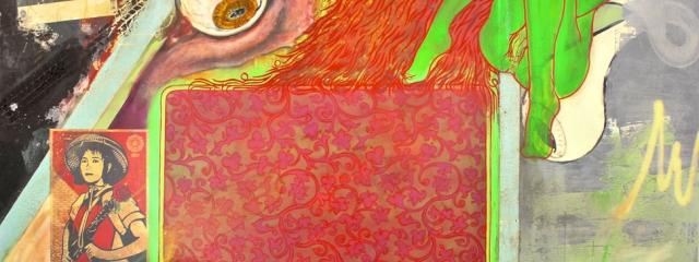 eyecandy, Mischtechnik auf Leinwand, 300 x 240cm, 2012