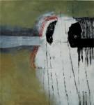 o.T. 2014, Mischtechnik auf Holz, 40 x 36 cm