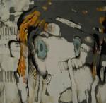 o.T. 2015, Öl auf Leinwand, 130 x 130 cm