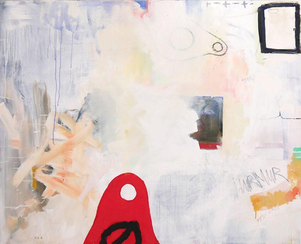 Josefine Henning - MURMUR, 2018, Mischtechnik auf Leinwand, 90 cm x 1,20 m