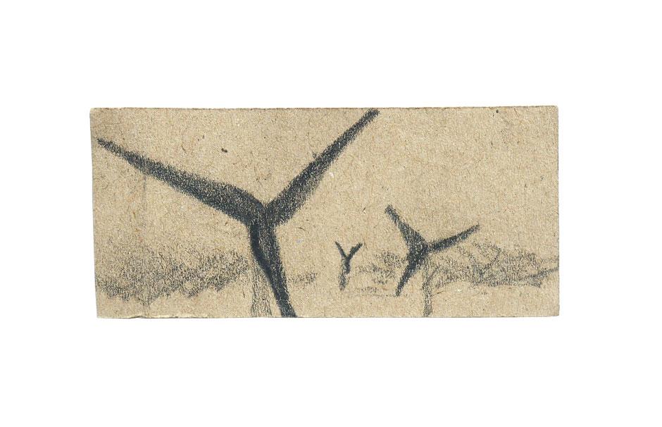 Tobinski_-Zeichnung_2018_Grafit-auf-Packpapier_7x3cm_©Tobinski