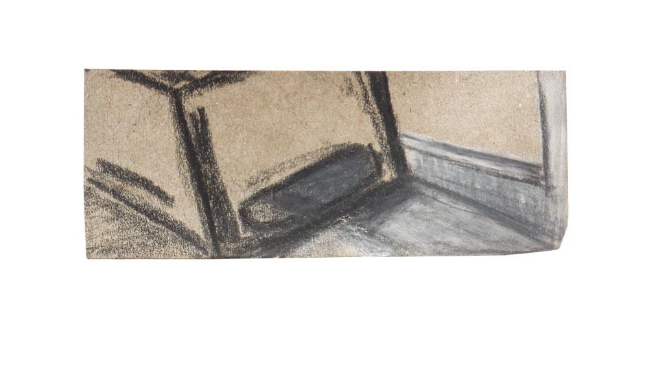 Tobinski_-Zeichnung_2018_Grafit,Stifte-auf-Packpapier_8x3cm_©Tobinski